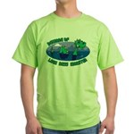 Beware Of Loch Ness Monster Green T-Shirt