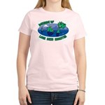 Beware Of Loch Ness Monster Women's Pink T-Shirt