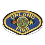 Upland Fire Oval Sticker
