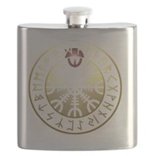 aegishjalmur rune shield PNG Flask