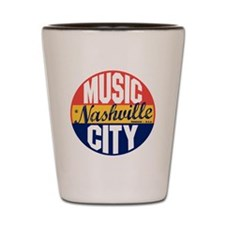 Nashville Vintage Label B Shot Glass