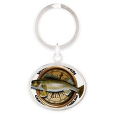 Walleye Oval Keychain