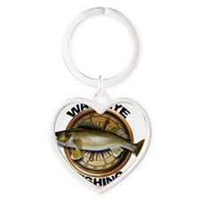 Walleye Fishing Heart Keychain