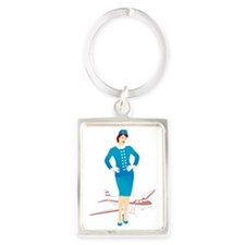 Flight Attendant 1 Portrait Keychain