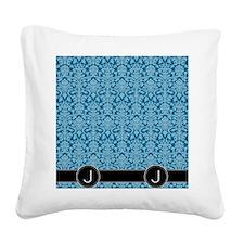 J_flip_flops_monogram_05 Square Canvas Pillow