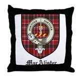 MacAlister Clan Crest Tartan Throw Pillow