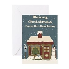 New home christmas Greeting Cards (Pk of 20)
