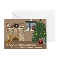 Cute New home christmas Greeting Card