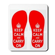 KEEPCALMredFLIPFLOPS Mousepad