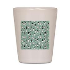penguin_blanket_green Shot Glass