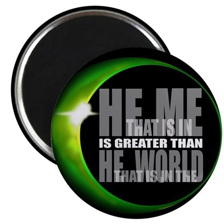 He is Greater 2.25&quot; Magnet (100 pack)