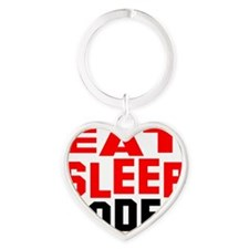 eat sleep Rodeo Heart Keychain