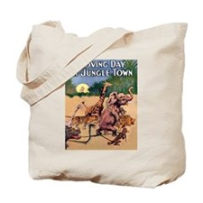 Jungle Town Escapade Tote Bag