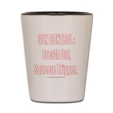 BreatOut_10x10_white Shot Glass