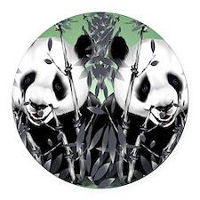 panda_flip_flops Round Car Magnet