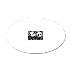 panda_flip_flops 20x12 Oval Wall Decal