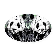 panda_flip_flops Oval Car Magnet