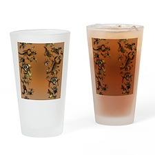 Creepy Bugs_flip_flops Drinking Glass