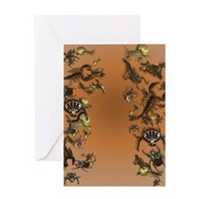 Creepy Bugs_flip_flops Greeting Card