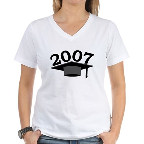 Graduation 2007 Women's V-Neck T-Shirt