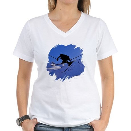 Ski Women's V-Neck T-Shirt