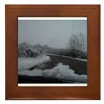 Snow Framed Tile