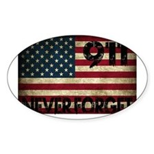 911 Grunge Flag Decal