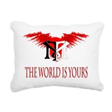 Tony Montana Logo Tshirt Rectangular Canvas Pillow