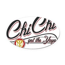 ChiChi-Wtes Oval Car Magnet