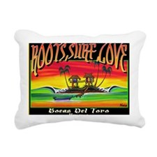 Roots Surf Love Rectangular Canvas Pillow