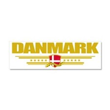 Denmark COA(Flag 10) pocket Car Magnet 10 x 3