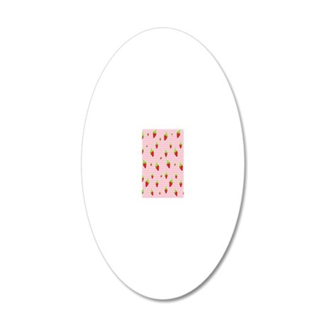 strawberry 20x12 Oval Wall Decal