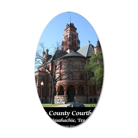 ellis-county-courthouse-post 35x21 Oval Wall Decal