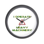 Heavy Machinery Wall Clock