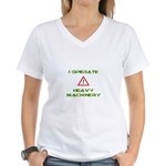 Heavy Machinery Women's V-Neck T-Shirt