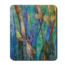 Colorful Dragonflies Mousepad
