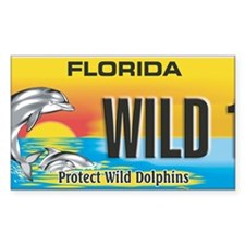 License Plate Dolphin Decal