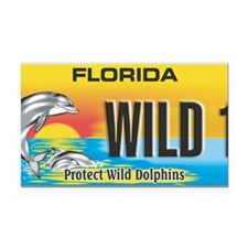 License Plate Dolphin Rectangle Car Magnet