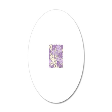 purple flower nook 20x12 Oval Wall Decal