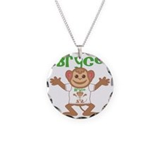 bryce-b-monkey Necklace Circle Charm