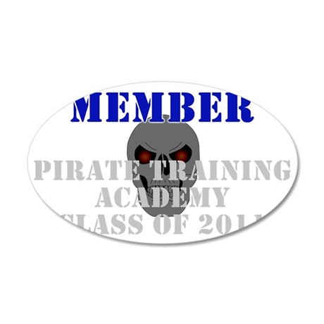 PirateAcademy 35x21 Oval Wall Decal
