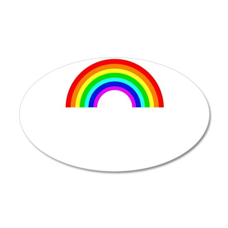 sundayfundayrainbowwhite 35x21 Oval Wall Decal
