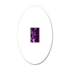 purple swirls nook 20x12 Oval Wall Decal