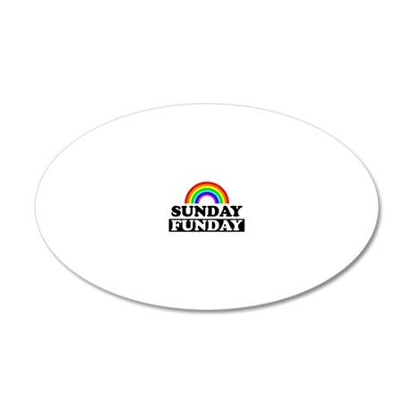 sundayfundayrainbow 20x12 Oval Wall Decal