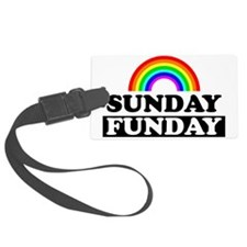 sundayfundayrainbow Luggage Tag