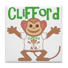 clifford-b-monkey Tile Coaster
