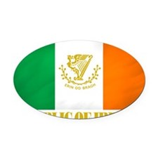 Republic of Ireland Flag (erin) Oval Car Magnet