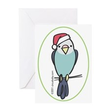 parakeet_blue_orn Greeting Card