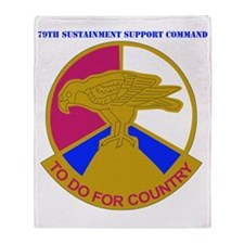 DUI-USARC-79TH SUSAINMENT SUPPORT CO Throw Blanket