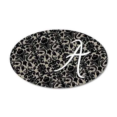 a_bags_monogram_07 35x21 Oval Wall Decal